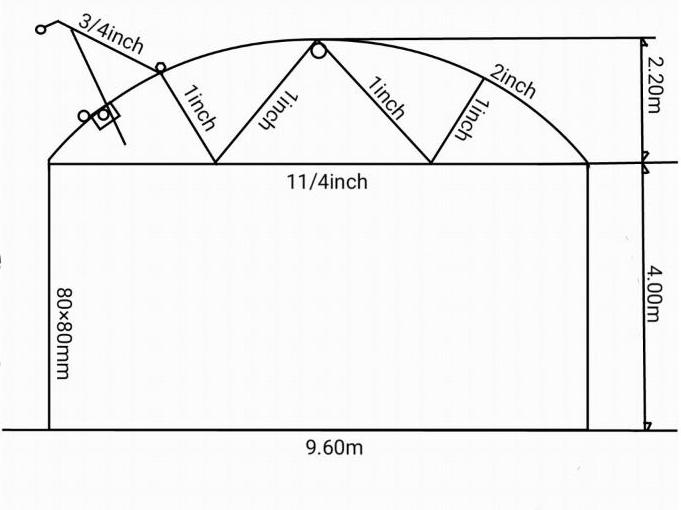 سازه طرح سیرکولار ارتفاع ۶ متر