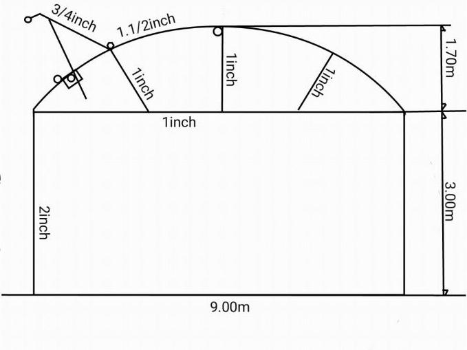 سازه بال کبوتری سیرکولار ارتفاع ۴.۷ متر